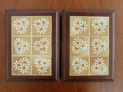Lot of 2 coasters table wooden and earthenware