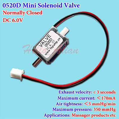 DC 6V Small Mini Electric Solenoid Valve N/C Normally Closed Gas Air Valve Pump
