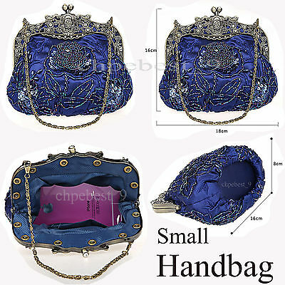 Jewelry Handmade Gorgeous Pearl Bead Prom Wedding Evening Clutch Handbag Purse