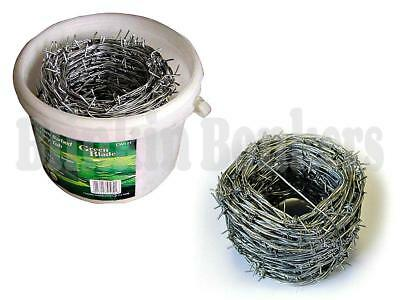 30M Roll Coil 1.6Mm Galvanised Steel Barbed Fence Field Security Wire In Tub