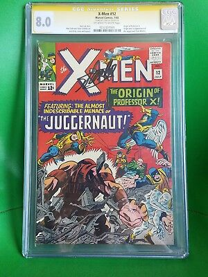 X-men 12 CGC 8.0 signed by STAN LEE 1st appearance Of Juggernaut