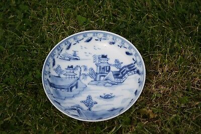 Antique Chinese Porcelain Blue and White Small Plate