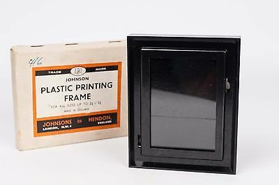Johnson Plastic Printing frame up to 2 1/2 x 3 1/2 ( 6x9cm) bakelite