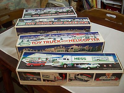 Hess Diecast Toy/Vehicle1 Lot (4):1992 18-Wheeler/Racer,2003 Truck/Race Cars,