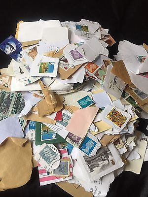 500grams Mixed World GB Used Stamps