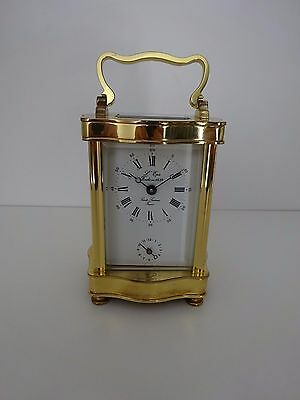 L'epee Vintage French Doucine Serpentine Carriage Clock 8 Day Alarm