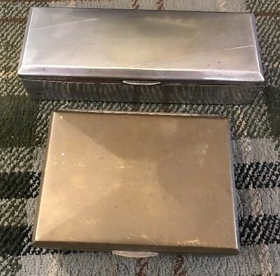 Two Great Vintage Shabby Chic Metal Boxes
