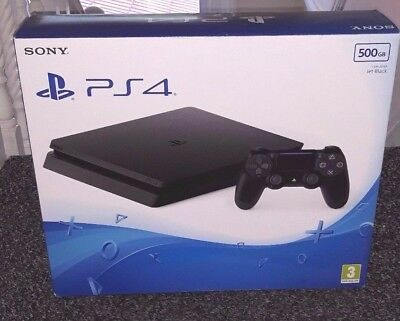 Sony PlayStation 4 PS4 Slim 500GB Black Console New