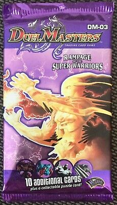 Duel Masters DM-03 Rampage Of The Super Warriors New & Sealed Booster Pack