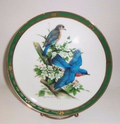 "Danbury Mint Collector Plate The Songbirds of Roger Tory Peterson ""Bluebirds"""