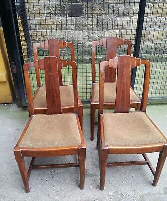 Set of 4 x 1930s vintage chairs