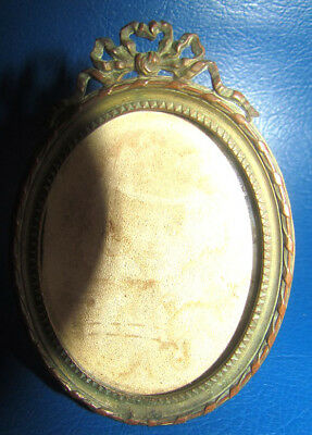 Antique French Ormolu Bronze Solid Photo Frame Picture
