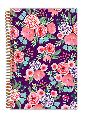 bloom daily planners 2018 Calendar Year Daily Planner, Purple Floral, Jan-Dec
