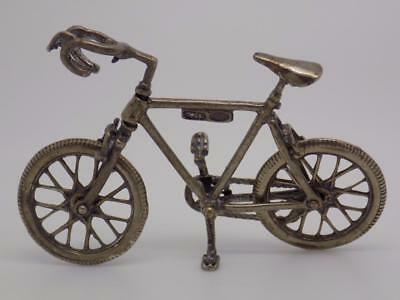 Vintage Solid Silver Bicycle Miniature / Figurine - Stamped - Made in Italy