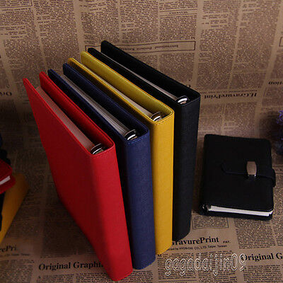 Daily Diary Notebook Personal Pocket Organiser Filofax PU Leather Cover 4 Sizes