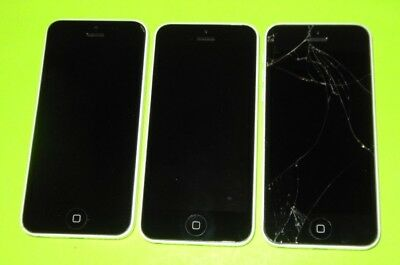 LOT of 3 Apple iPhone 5C's ~PARTS~ Various Issues ~ Can't Activate ~ LOT~ FMI ON