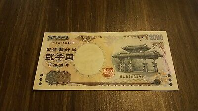 Japan 2.000 Yen. 2000. Unc. Commemorative.