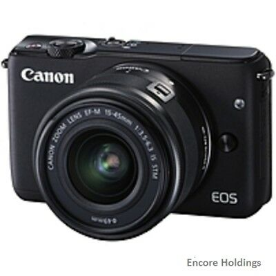 Canon EOS M10 0584C011 18 MP Digital Camera 3x Optical Zoom Black