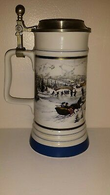 Coors 1991-92 Winterfest Beer Stein With Lid Wilmington, NC