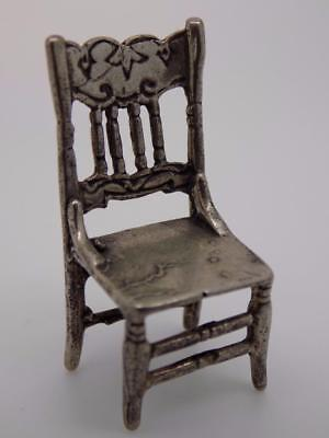 Vintage Solid Silver Chair Miniature / Figurine - Stamped* - Made in Italy