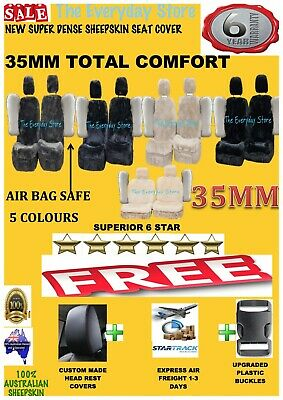 Super Dense Sheepskin (Lambswool) Car Seat Covers 35mm Airbag Safe Super Sale