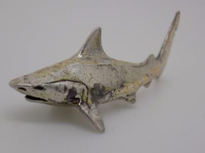 Vintage Sterling Silver 925 Shark Miniature / Figurine - Stamped - Made in Italy