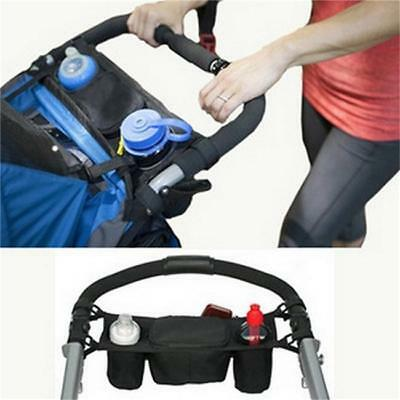 Pram Pushchair Stroller Baby Buggy Cup Bottle Food Holder Storage Bag Organiser