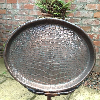 Antique copper arts and crafts tray.