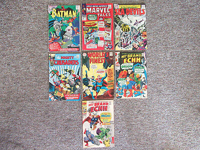 Lot of (7) Comics Including Batman, Marvel Tales, Worlds Finest and More...