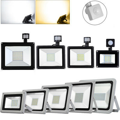 10W 20W 30W 50W 100W 150W 300W 500W LED Floodlight PIR Outdoor Garden  Light SMD