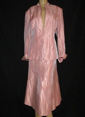 Jacques Vert Rose Skirt And Jacket Suit Size 18 Size 20