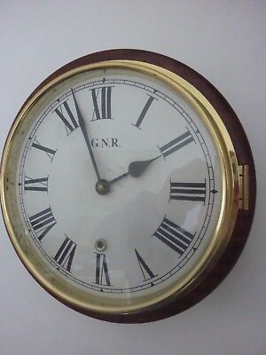 REPRODUCTION  Railway Dial Clock. G.N.R
