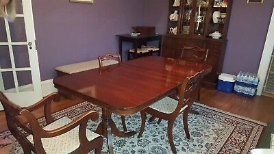 Mahogany  Dining Room Set- Table 4 Chairs - 1 Leave and China Cabinet