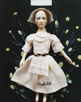 hand made antique look Queen Anne Wooden doll