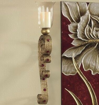 Gold Tone Metal Wall Sconce
