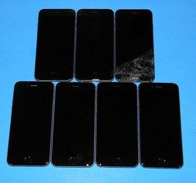 LOT of 7 Apple iPhone 6 16gb's ~ PARTS ~ Various Issues ~ Can't Activate ~iCL0UD