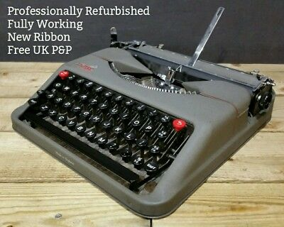 RESTORED & WORKING Empire Aristocrat Vintage Portable Typewriter Hermes Baby 50s