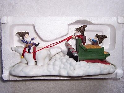 Dept 56 NORTH POLE WOODS Polar Plowing Service