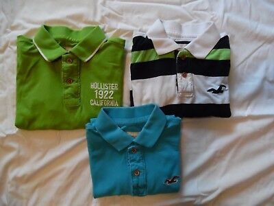 Lot of 3 Hollister Men's short sleeve collared shirts, size XL