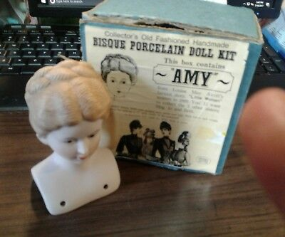 "1979 schackman Porcelain 21"" Doll Kit Head Amy new"