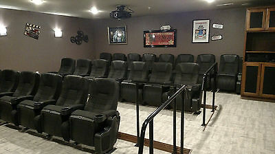 Lot of 15 NEW Home Theater REAL MOVIE CINEMA CHAIRS Seating seats Rockering back
