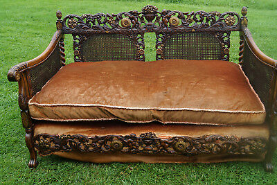 gilt bergere gold sofa french antique ornate carved detail