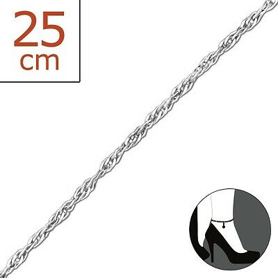 Sterling Silver twisted Anklet