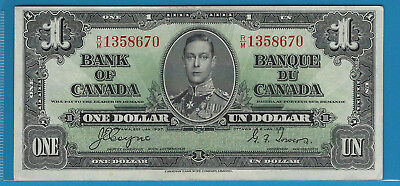 1937 1$ Bank Note Of Canada Coyne/Towers R/M1358670 Circ BC-21d