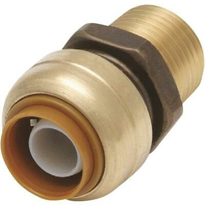 """Push Fit 3/4"""" x 3/4"""" Inch NPT Male Thread Adapter Fitting 5 pcs / Forged / 0.75"""