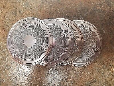 Set 4 Vintage Deco Style Coasters Mats by Christofle of France #3438