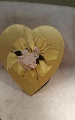 Vintage Schraffts Chocolates Heart Shaped Box
