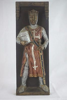 Marcus Designs Medieval Knight Ceramic Wall Plaque Handmade in England AM002