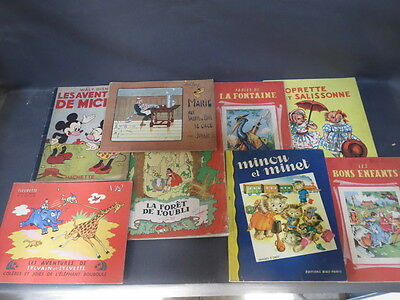 Set of 8 books for children Micker Sylvain and sylvette fables old child books