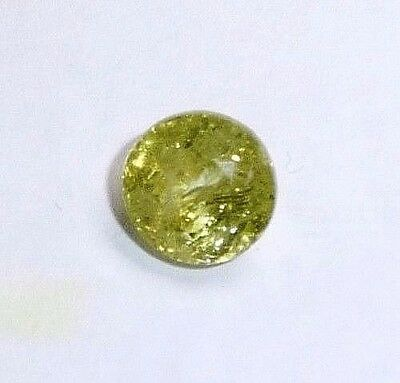 Garnet-Grossular green-yellow round,2.00ct,6.9x5mm,GG-A05,natural rough grown